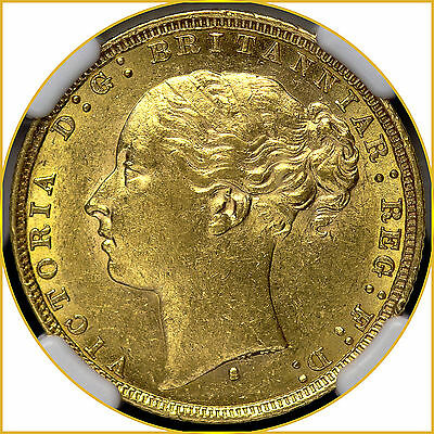 1879 S Gold Sovereign Sydney Mint