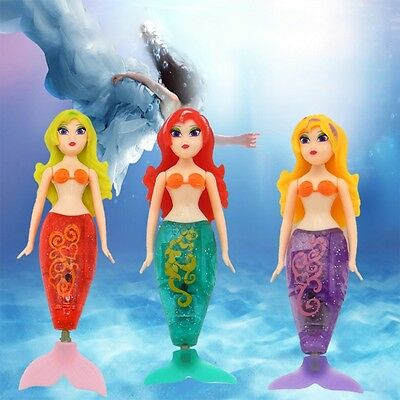 Swimming Mermaid Doll Pool Toy LED Robot Toy for Baby Kids Bath Bathtub Time Fun