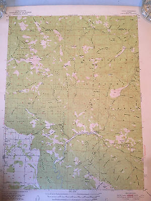 6 Vintage 1950's Maps US Dept of Interior USGS N. Calif