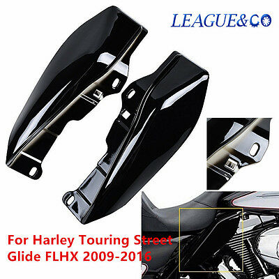 Black Mid-Frame Air Deflector Trim For Harley Touring Street Glide FLHX 09-16 z