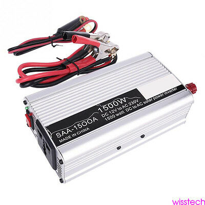 1500W Car Power Inverter DC 12V To AC 230V Charger Adapter Convert USB Laptop EU