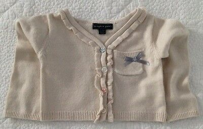 2 Pumpkin Patch Baby Girl Beige And Coral Colour Cardigans Size 12-18 Months