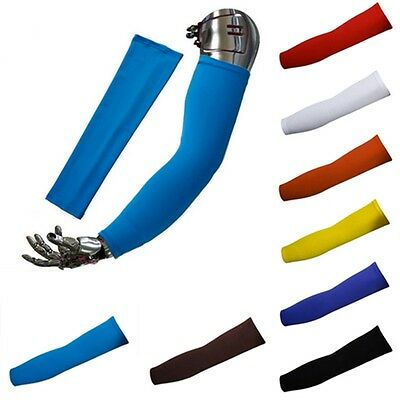 AU Pair Outdoor Sport Lycra UV Sun Protective Arm Sleeves Athletic Skin Cover