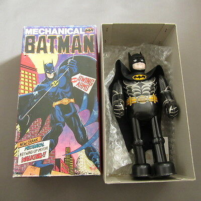 Rare Batman DC Comics WindupTin Toy Figure with Key Billiken Made in Japan 1989