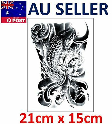 LARGE - Fish Temporary Fake Tattoo Beauty Makeup Body Art 3D Waterproof Stickers