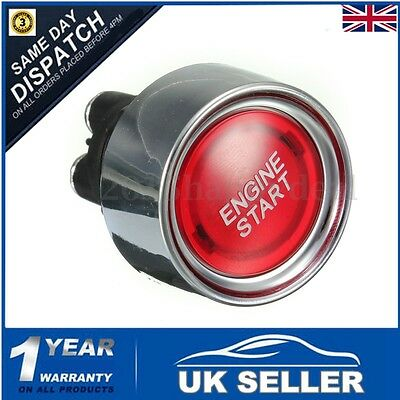 Universal Car LED Push Button Red Illuminated 12V Starter Switch Engine Start UK