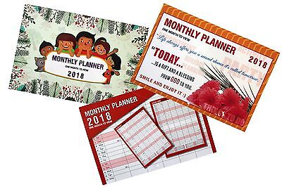 2018 Large Month To View Planner Quality Calender Wall Hanging Planner X 1