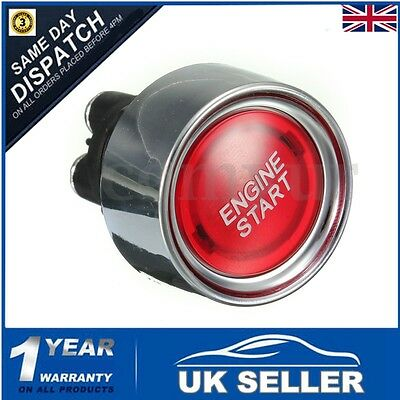 Car Auto RED LED 12V ILLUMINATE Engine Button Starter Power Switch Push Start UK
