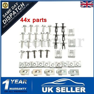 44x Undertray Clips Screws Engine Under Cover Splash Guard Shield For BMW E46 UK
