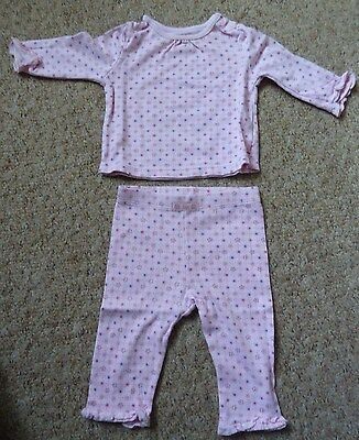 Tu Baby Girl Pink Top And Bottoms Set-- 3 - 6 Months