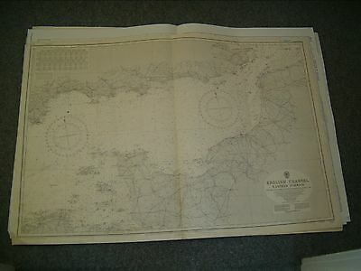Vintage Admiralty Chart 2675 ENGKISH CHANNEL - EASTERN PORTION 1955 edn