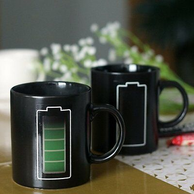 Cool Design Mug Magic Temperature Battery Coffee Heat Cold Hot Sensitive Cup KB