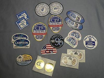 Lot of CBI Chicago Bridge & Iron Co. patches and safety stickers