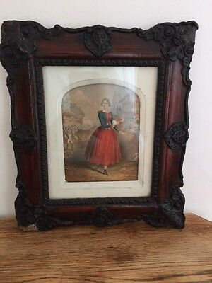George Baxter framed print - 'The Daughter of the Regiment' Published in 1856.