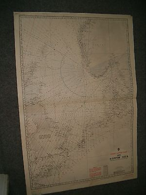Vintage Admiralty Chart L2339 (Consol)  THE NORTH SEA 1922 edn