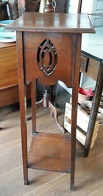 Antique arts and crafts style plant stand,  jardiniere