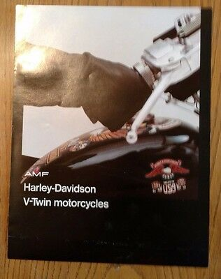 1976 Harley Davidson Big Twin Brochure original NOS color catalog with all specs