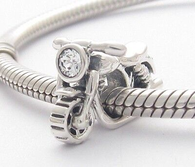 MOTORCYCLE CHARM Bead Sterling Silver .925 For European Bracelet  514