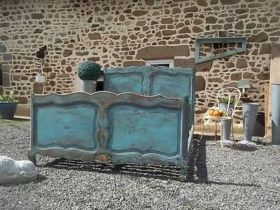 French Chateau Chic Vintage Provincial Louis Xv Style Double Bedstead