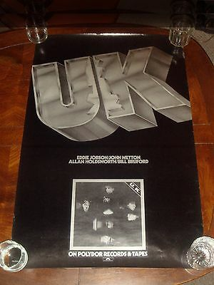 "Rare ALLAN HOLDSWORTH ""UK"" 1978 POLYDOR RECORDS PROMO POSTER - Bill Bruford"