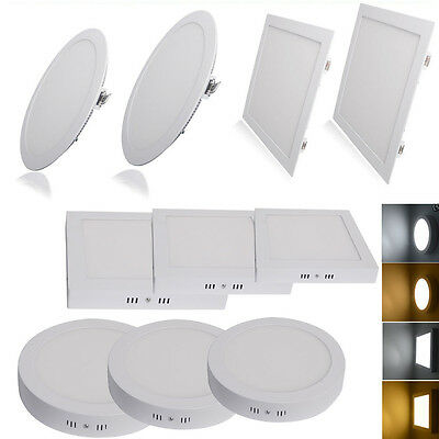 3W-24W Surface Mounted Recessed LED Ceiling Flat Panel Light Lamp Downlight Kit