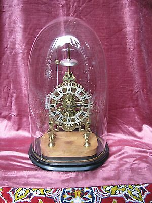 Antique Fusee Skeleton Clock With Passing Strike-Rare Floral Design Brass Plates