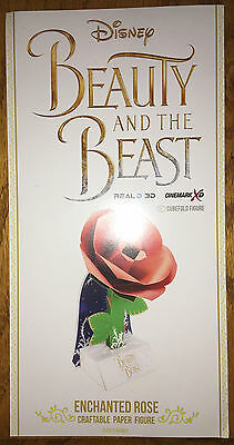 New Beauty And The Beast Enchanted Rose Cubefold Souvenir Figure Craftable Paper