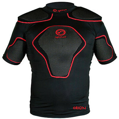 Optimum Origin Rugby Body Protection Shoulder Pads  Black / Red