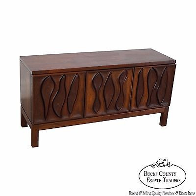 Robert Whitley Studio Crafted Sculpted Walnut Low Chest
