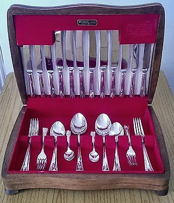 vintage art deco silver plated cutlery set