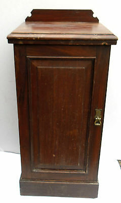 Antique Solid Mahogany Pot / Bedside cupboard