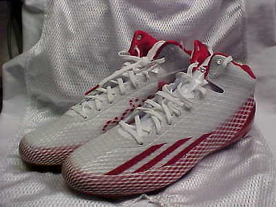 Adidas Adizero 5 Star 3.0 Mid Molded Football Cleats White Red G98760 Size  13 b3879ba13