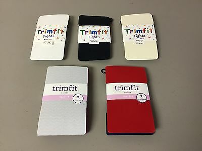 NWT 7 Pair Girl's Trimfit Tights Mixed Lot Size 6 - 8 Multi #203R