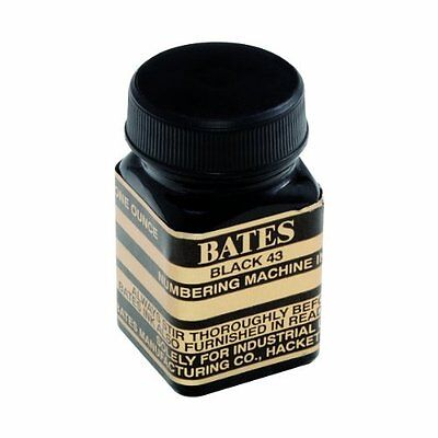 Bates Numbering Machine Refill Ink, 1 Ounce Bottle Cap Brush, Black (9800659)