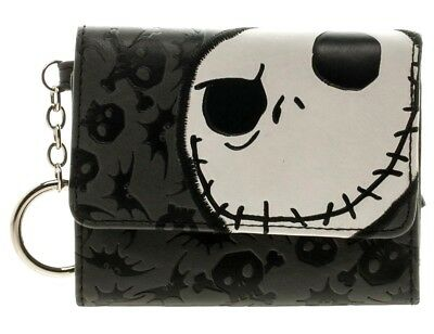 Nightmare Before Christmas Jack's Face Mini Trifold Wallet Junior PU Leather