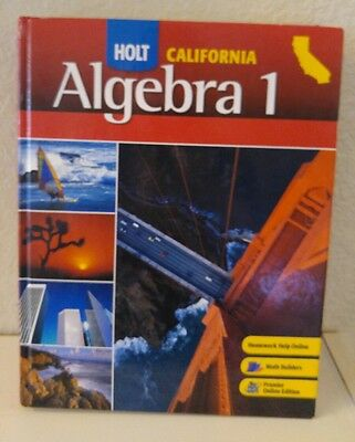 HOLT ALGEBRA 1 9th Grade 9 Math Selected Answers EXTRA