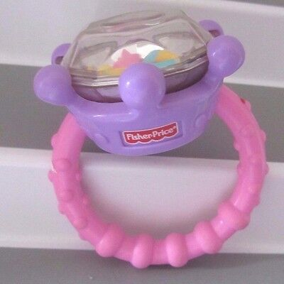 Fisher Price Diamond Ring Rattle for Sweet Baby Girl  Easy to Grasp