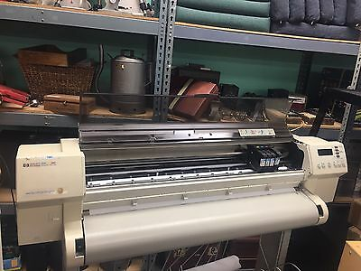 HP DesignJet 750C Plus Plotter Printer w/ Rolling Stand!