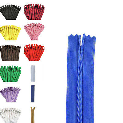 10pcs Nylon Coil Zippers Tailor Sewer Craft 12 Inch (30cm)Crafter's fs