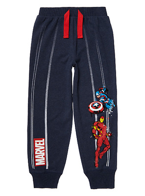 Boys Marvel Avengers Navy Lounge Trousers Joggers Jogging Tracksuit Bottoms Kids