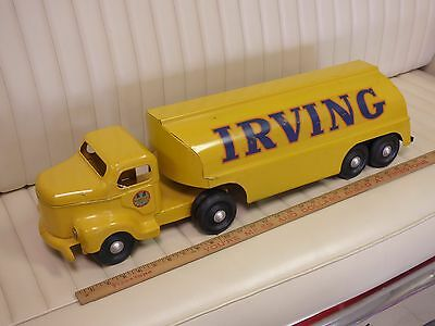 1950s MINNITOY (Otaco) IRVING Oil Tanker Truck Steel Toy ORIGINAL