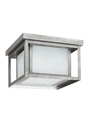 Sea Gull 79039BLE-57, Hunnington Outdoor Ceiling Light In Weathered Pewter