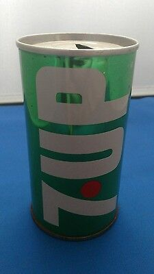 7up Canadian Flat top 10oz soda can 1965 WET & WILD!!!