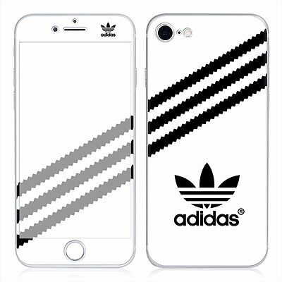 White Adidas Iphone 7 PVC Skin Decal sticker 4.7 inch Front and back