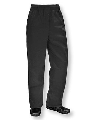 NewChef Work Pants Restaurant/Hotel/Staff/Cook/Waiter Black Uniform Trousers MED