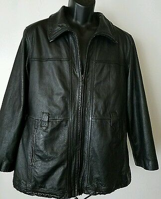 WILSONS LEATHER Men's Black Thinsulate Jacket Zip Out Quilted Lining Size XL