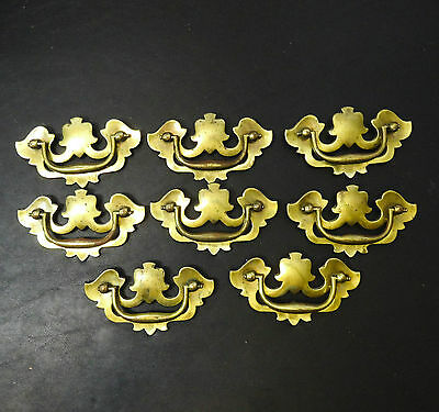 8 Vintage KBC Keeler Brass Co. Back and Bail Drawer Pulls # N13332 Bat wings
