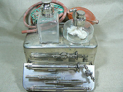 VTG 19th C ANTIQUE RARE GERMAN AESCULAP DOCTOR MEDICAL SURGICAL INSTRUMENTS SET