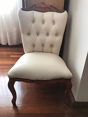 2 Small Leather Upholstered Chairs