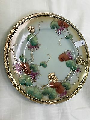Japanese Celadon Porcelain Plate With Gold